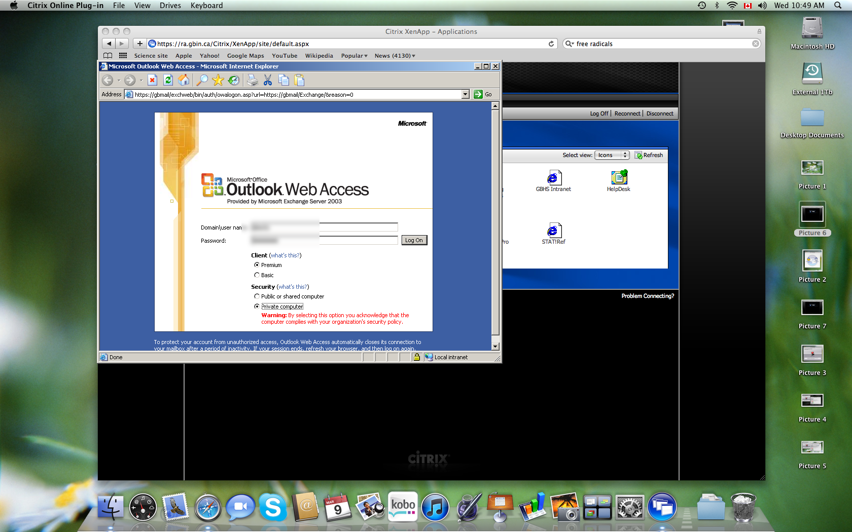 Email Access Using Citrix on Mac OS 10 6