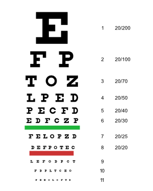 Snellen digital eyechart software